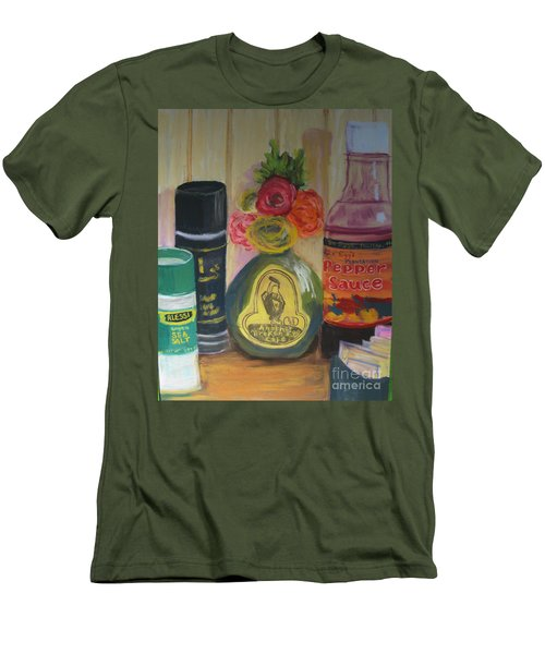 Broken Egg Tableart Men's T-Shirt (Athletic Fit)