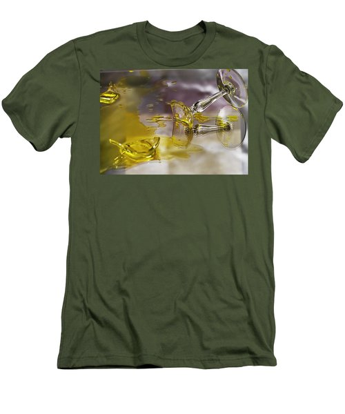 Men's T-Shirt (Slim Fit) featuring the photograph Broken Glass by Susan Capuano