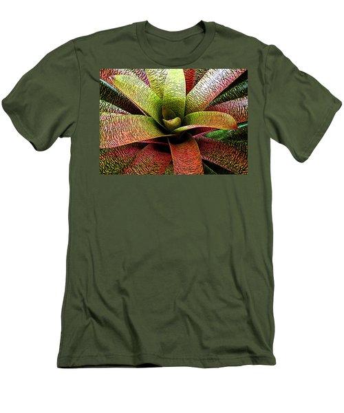 Bromeliad Men's T-Shirt (Slim Fit) by Ranjini Kandasamy