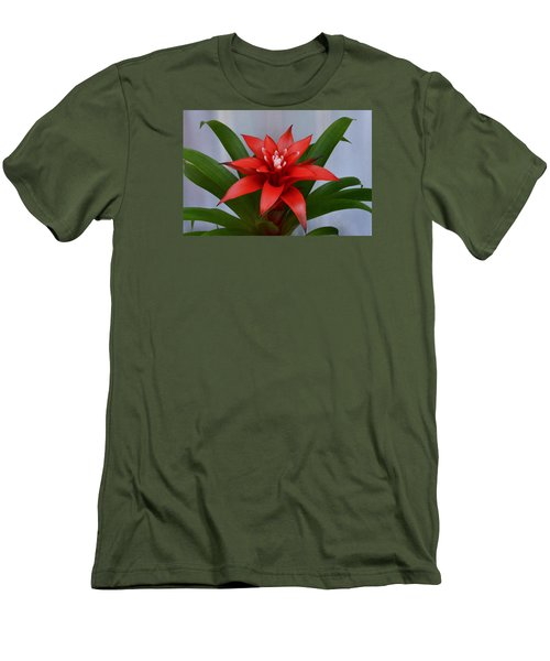 Bromeliad Men's T-Shirt (Slim Fit) by Terence Davis