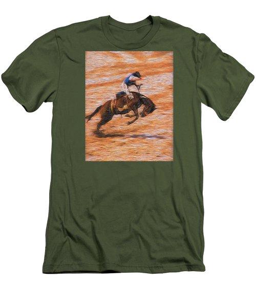 Bronc Rider Men's T-Shirt (Slim Fit) by John Freidenberg