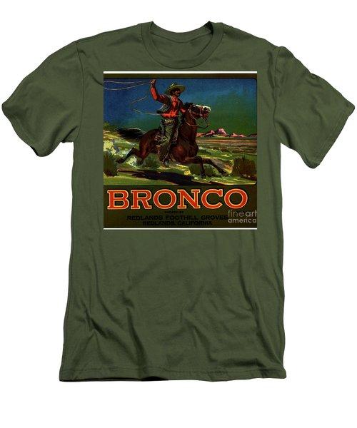 Bronco Redlands California Men's T-Shirt (Slim Fit) by Peter Gumaer Ogden