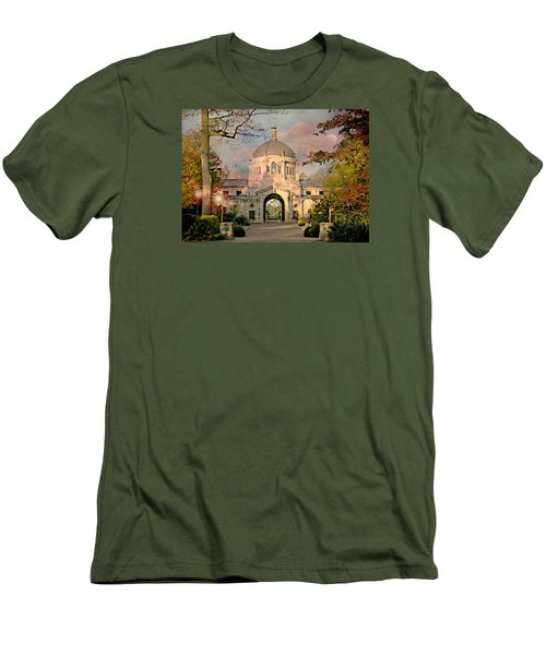 Bronx Zoo Entrance Men's T-Shirt (Slim Fit) by Diana Angstadt