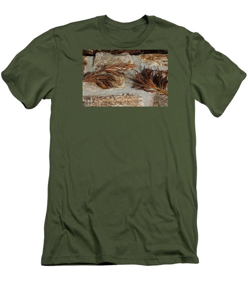 Bronze Symmetry Men's T-Shirt (Slim Fit) by Deborah  Crew-Johnson