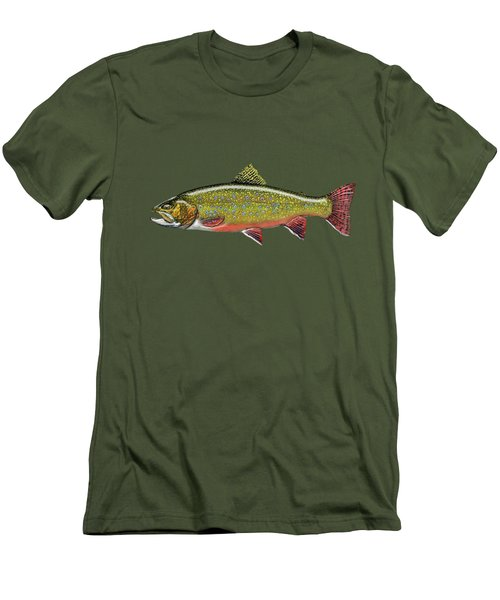 Brook Trout Men's T-Shirt (Slim Fit) by Serge Averbukh
