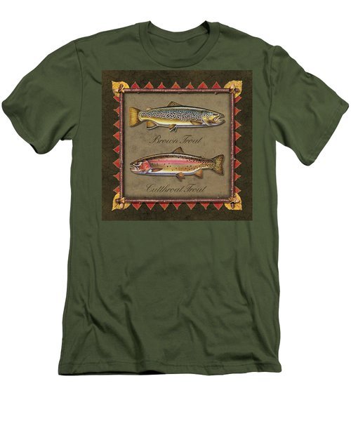 Brown And Cutthroat Trout Men's T-Shirt (Slim Fit) by JQ Licensing