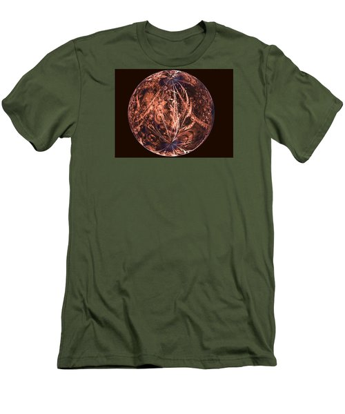 Brown Artificial Planet Men's T-Shirt (Athletic Fit)