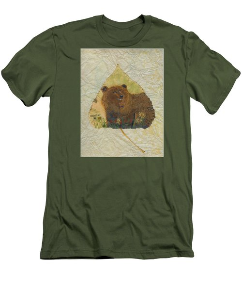 Brown Bear Men's T-Shirt (Slim Fit) by Ralph Root