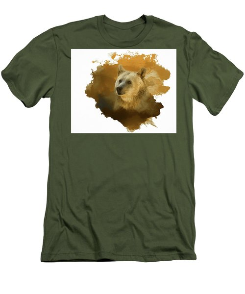 Men's T-Shirt (Slim Fit) featuring the painting Brown Bear by Steven Richardson