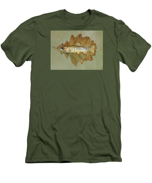 Brown Trout Men's T-Shirt (Slim Fit) by Ralph Root
