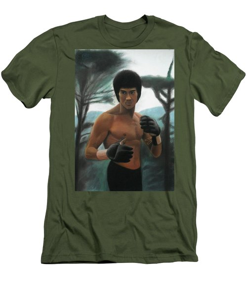 Bruce Lee - The Concentration  Men's T-Shirt (Athletic Fit)