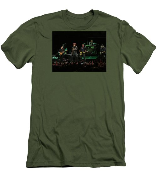 Bruce Springsteen And The E Street Band Men's T-Shirt (Slim Fit) by Melinda Saminski