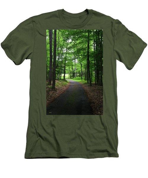 Buckner Farm Path Men's T-Shirt (Slim Fit) by Dana Sohr