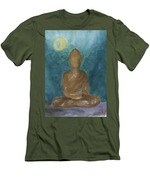 Buddha Abstract Men's T-Shirt (Athletic Fit)