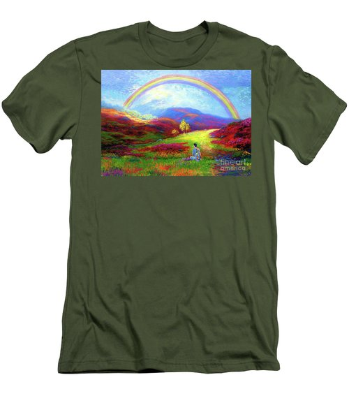 Buddha Chakra Rainbow Meditation Men's T-Shirt (Athletic Fit)
