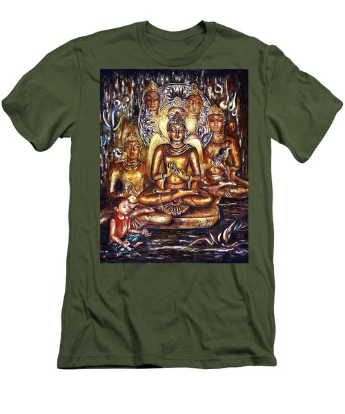 Buddha Reflections Men's T-Shirt (Slim Fit) by Harsh Malik