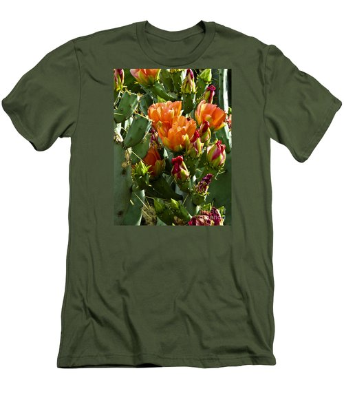 Buds N Blossoms Men's T-Shirt (Slim Fit) by Kathy McClure