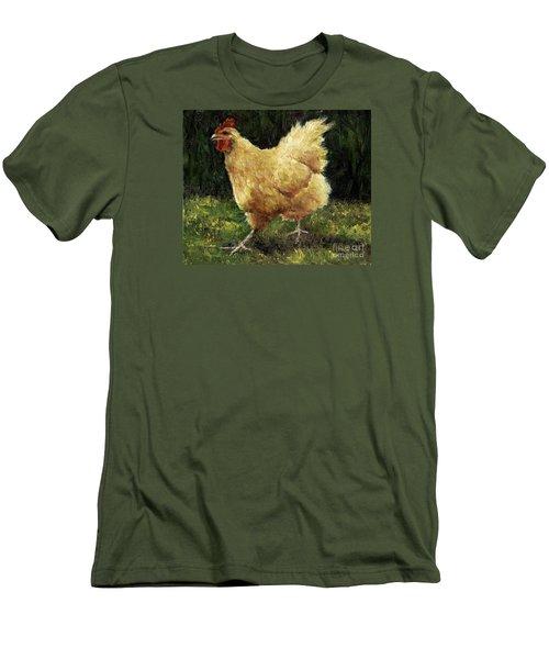 Buff Orpington Chicken Men's T-Shirt (Slim Fit) by Jill Musser