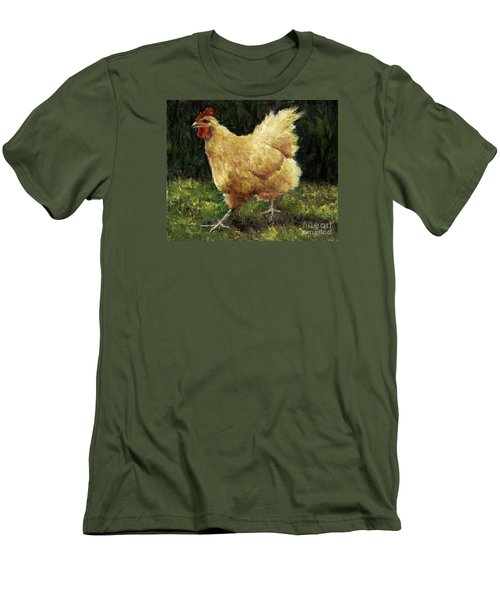 Buff Orpington Chicken Men's T-Shirt (Slim Fit)