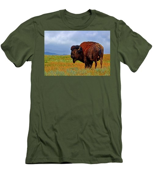 Men's T-Shirt (Slim Fit) featuring the photograph Buffalo 006 by George Bostian
