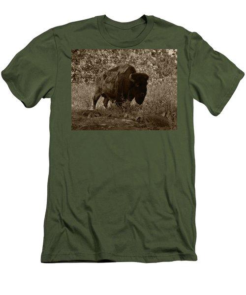 Buffalo Junction Men's T-Shirt (Slim Fit) by B Wayne Mullins