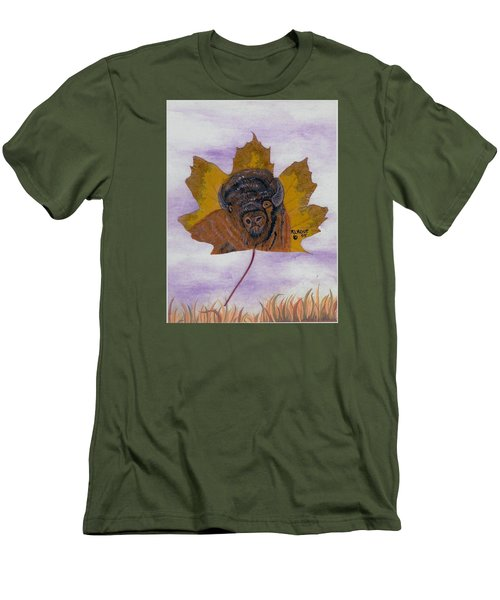 Buffalo Profile Men's T-Shirt (Slim Fit) by Ralph Root