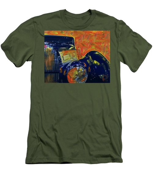Bugatti Abstract Blue Men's T-Shirt (Slim Fit) by Walter Fahmy