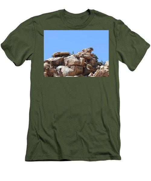 Bull From Joshua Tree Men's T-Shirt (Slim Fit) by Viktor Savchenko