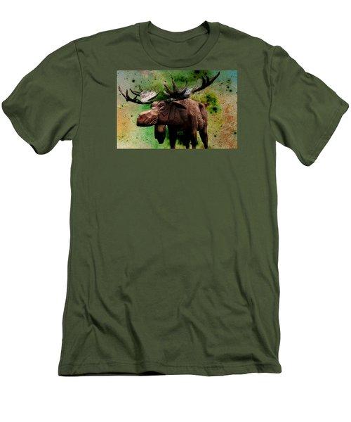 Bull Moose Men's T-Shirt (Slim Fit) by Robin Regan