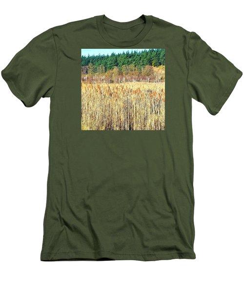 Bullrushes In Late November Men's T-Shirt (Slim Fit) by Tobeimean Peter