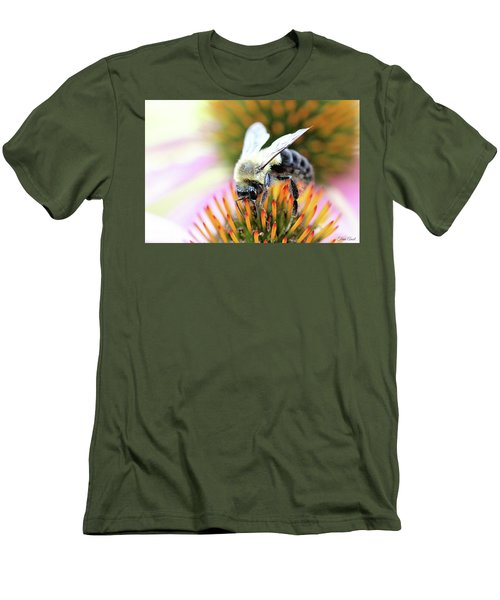 Men's T-Shirt (Athletic Fit) featuring the photograph Bumble Bee Portrait by Trina Ansel