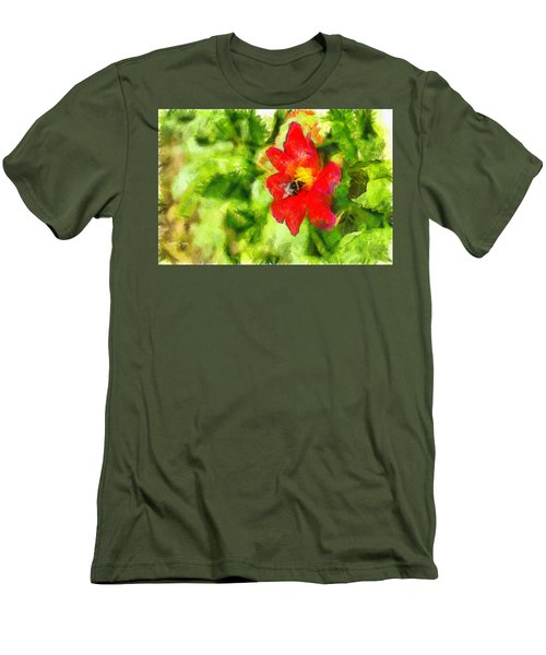Bumblebee On The Flower - Da Men's T-Shirt (Athletic Fit)