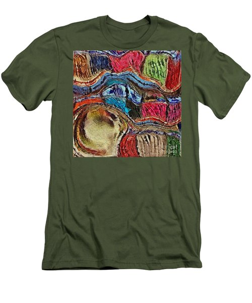 Bumps In The Road Men's T-Shirt (Slim Fit) by Kathie Chicoine