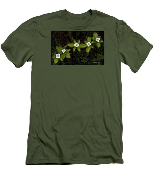 Bunchberry Flowers Men's T-Shirt (Athletic Fit)