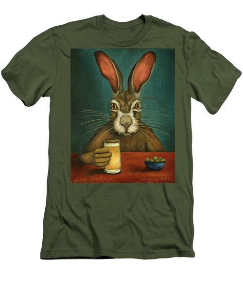 Bunny Hops Men's T-Shirt (Slim Fit) by Leah Saulnier The Painting Maniac
