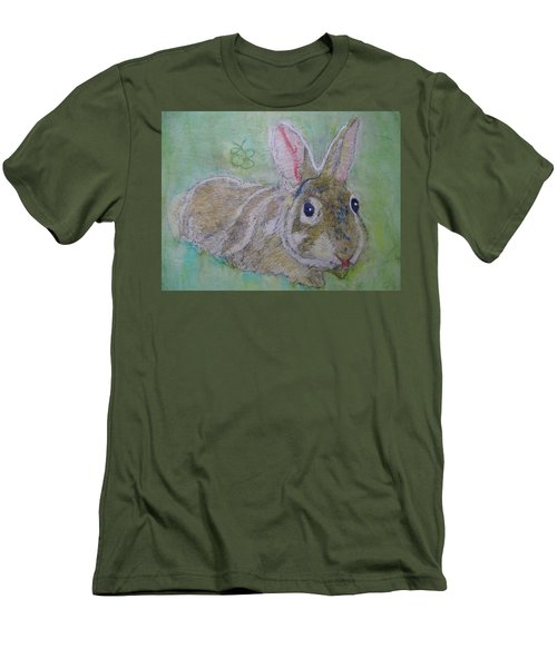 Men's T-Shirt (Athletic Fit) featuring the drawing bunny named Rocket by AJ Brown