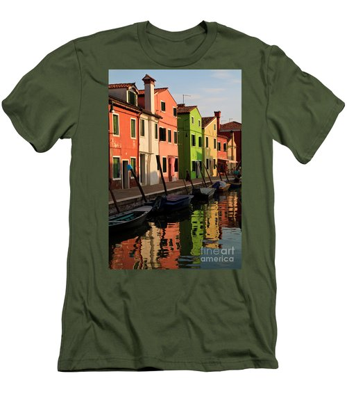 Men's T-Shirt (Slim Fit) featuring the photograph Burano Reflections by Dennis Hedberg
