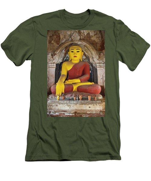 Men's T-Shirt (Slim Fit) featuring the photograph Burma_d1150 by Craig Lovell