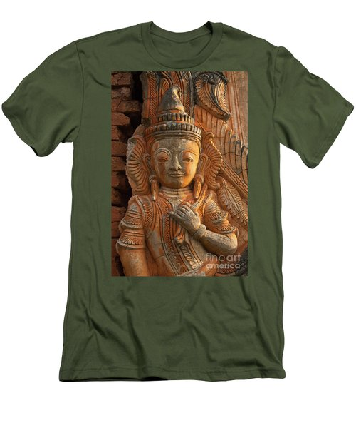 Men's T-Shirt (Slim Fit) featuring the photograph Burma_d187 by Craig Lovell