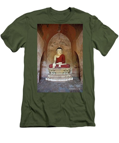 Men's T-Shirt (Slim Fit) featuring the photograph Burma_d2078 by Craig Lovell