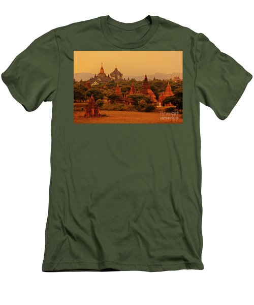Men's T-Shirt (Slim Fit) featuring the photograph Burma_d2136 by Craig Lovell