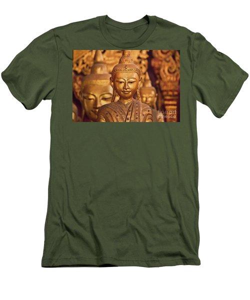 Men's T-Shirt (Slim Fit) featuring the photograph Burma_d579 by Craig Lovell