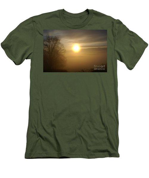 Burning Off The Fog Men's T-Shirt (Slim Fit) by Annlynn Ward
