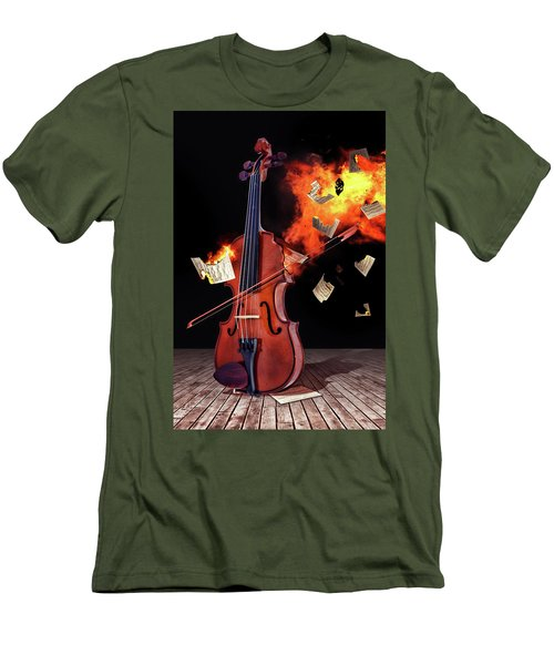 Burning With Music Men's T-Shirt (Athletic Fit)