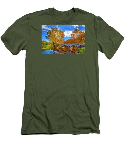 Burnside Bridge At Antietam Men's T-Shirt (Slim Fit) by Paul W Faust -  Impressions of Light