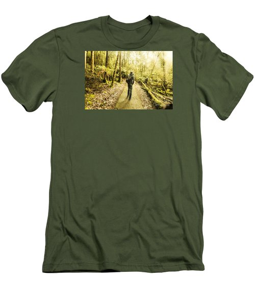 Men's T-Shirt (Athletic Fit) featuring the photograph Bushwalking Tasmania by Jorgo Photography - Wall Art Gallery