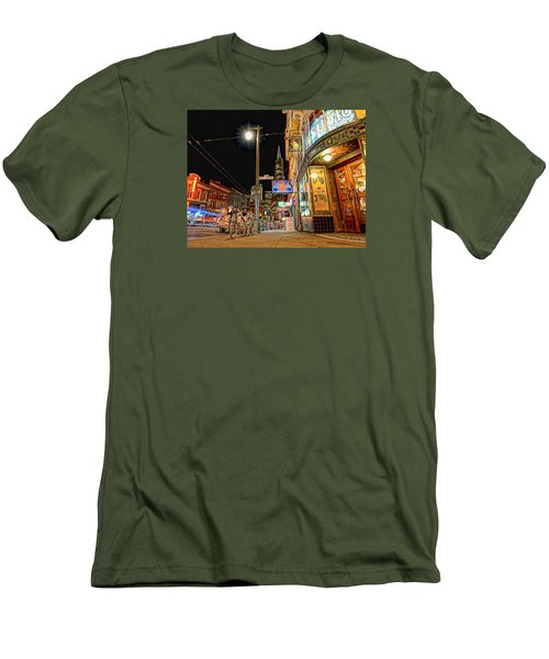 Men's T-Shirt (Slim Fit) featuring the photograph Busy View Northbeach San Francisco by Steve Siri