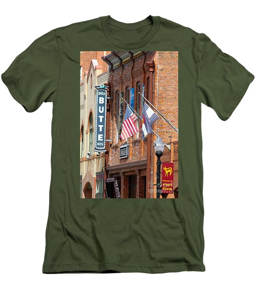 Butte Opera House In Colorado Men's T-Shirt (Slim Fit) by Catherine Sherman