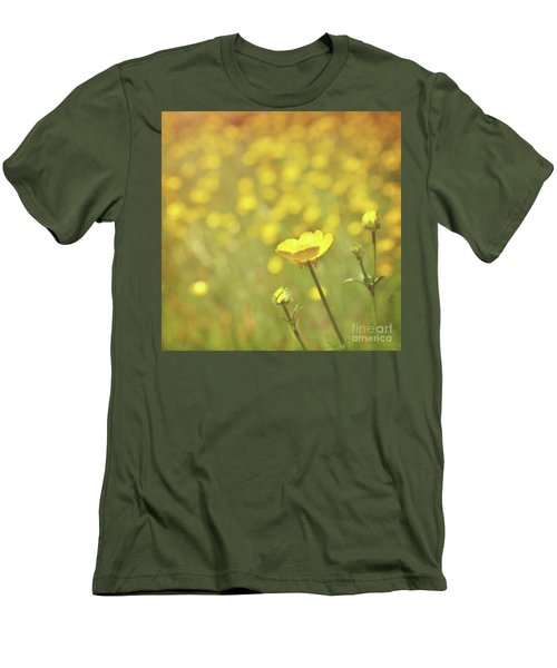 Men's T-Shirt (Slim Fit) featuring the photograph Buttercups by Lyn Randle