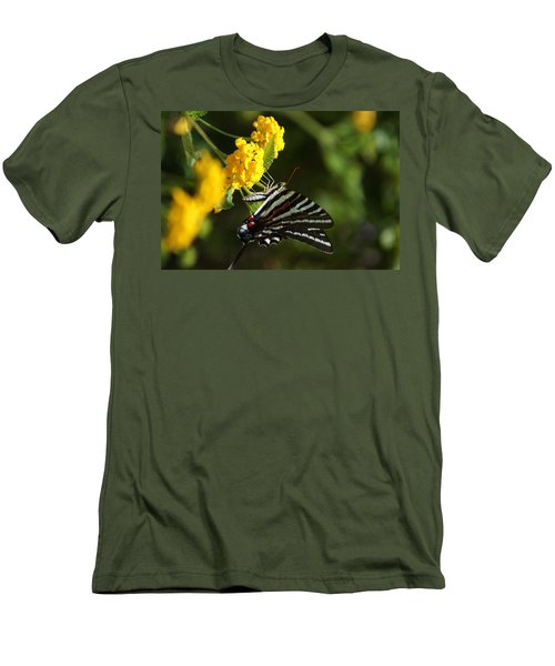 Butterflies And Blooms Men's T-Shirt (Athletic Fit)